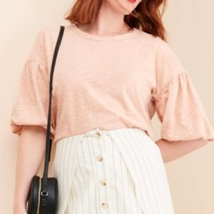 ⭐️ Anthropologie No Less Than Bubble Sleeve Top